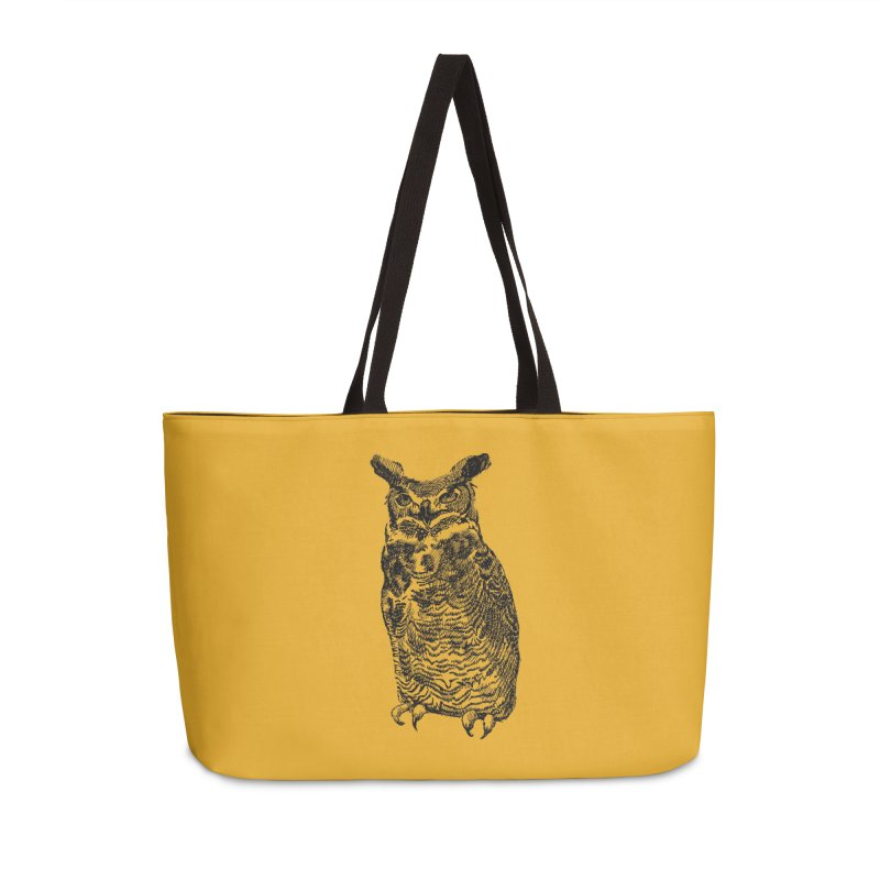 Enforcer Owl Accessories Weekender Bag Bag by Unspeakable Records' Artist Shop