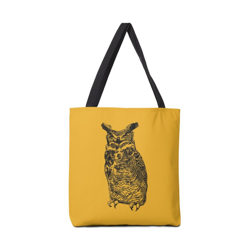Enforcer Owl Accessories Tote Bag Bag by Unspeakable Records' Artist Shop