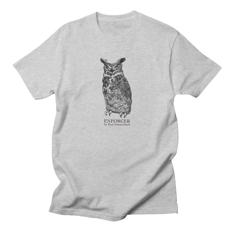 Enforcer Owl Men's T-Shirt by Unspeakable Records' Artist Shop