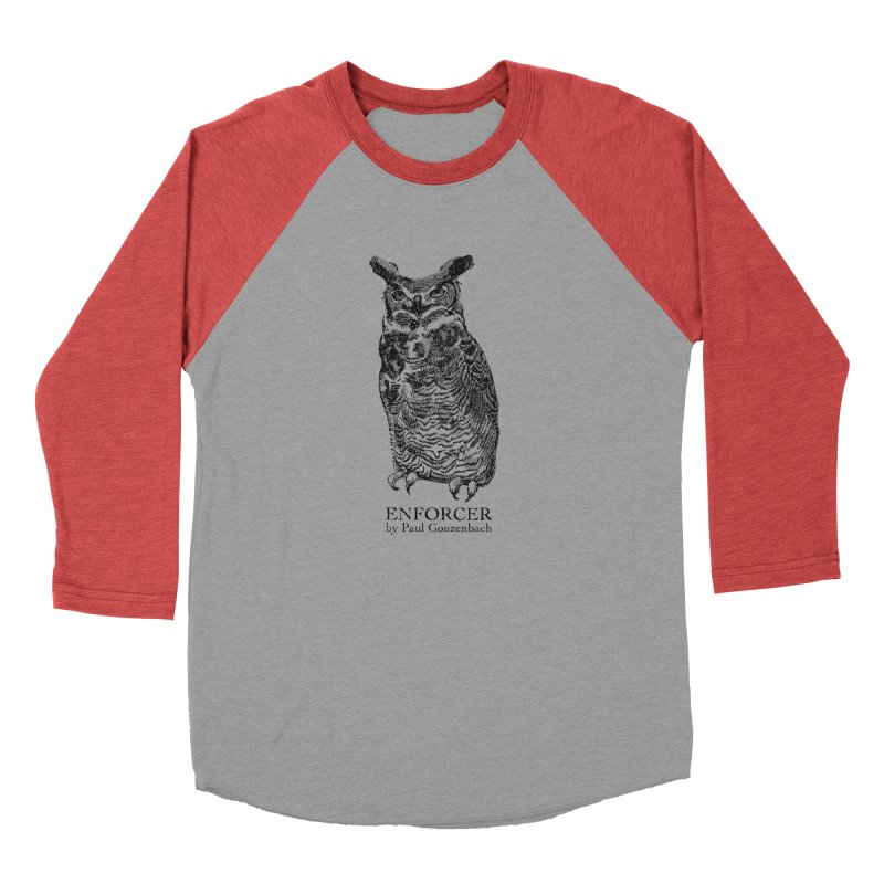 Enforcer Owl Women's Baseball Triblend T-Shirt by Unspeakable Records' Artist Shop