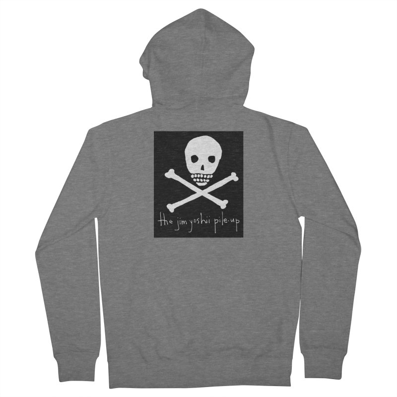 JYPU classic skull Men's French Terry Zip-Up Hoody by Unspeakable Records' Artist Shop