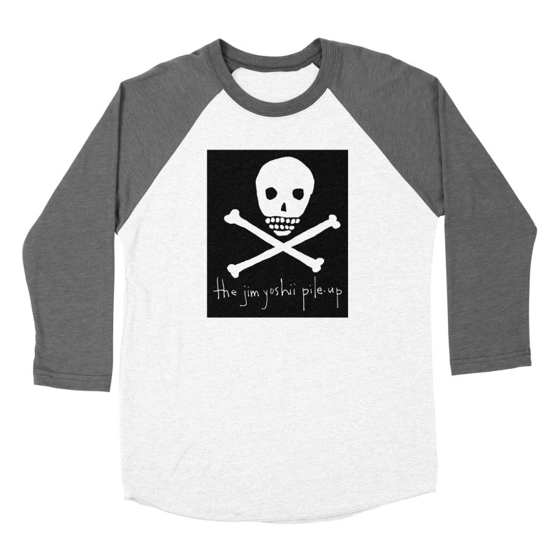JYPU classic skull Men's Baseball Triblend Longsleeve T-Shirt by Unspeakable Records' Artist Shop