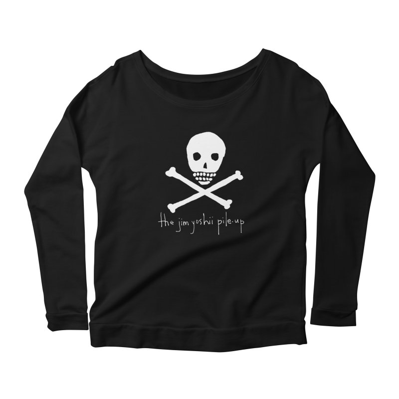 JYPU classic skull Women's Scoop Neck Longsleeve T-Shirt by Unspeakable Records' Artist Shop
