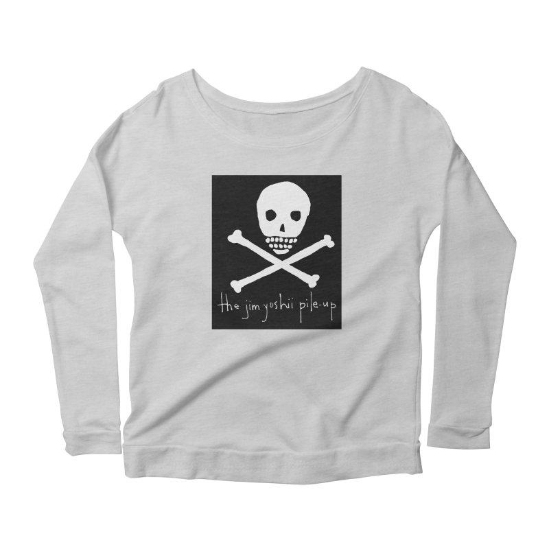 JYPU classic skull Women's Scoop Neck Longsleeve T-Shirt by Unspeakable Records' Artist Shop