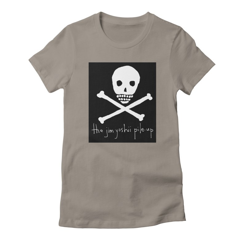 JYPU classic skull Women's Fitted T-Shirt by Unspeakable Records' Artist Shop