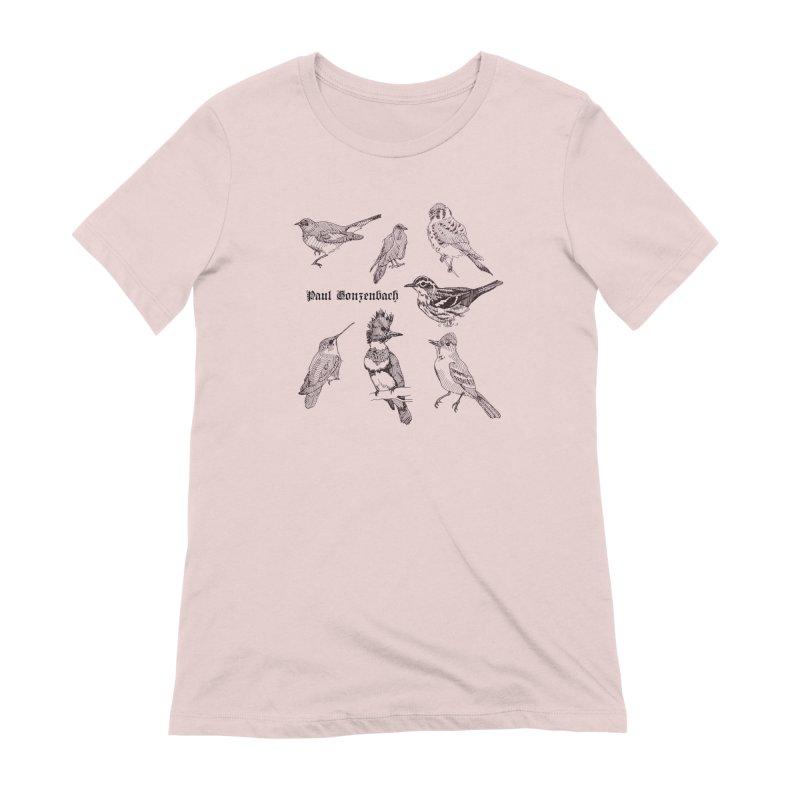 Bird Menagerie Women's Extra Soft T-Shirt by Unspeakable Records' Artist Shop