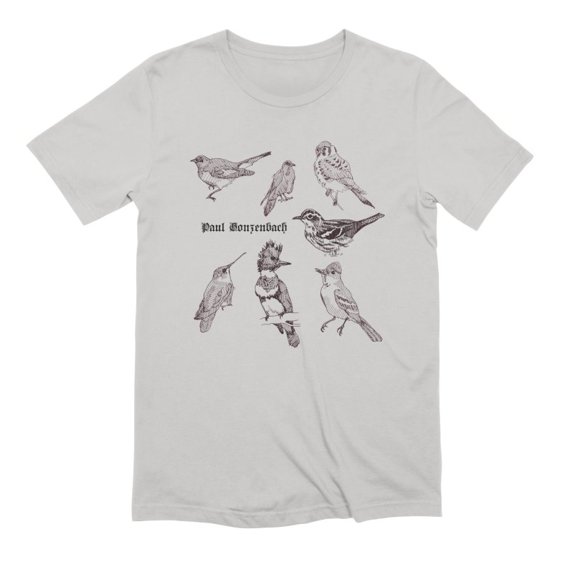 Bird Menagerie Men's Extra Soft T-Shirt by Unspeakable Records' Artist Shop
