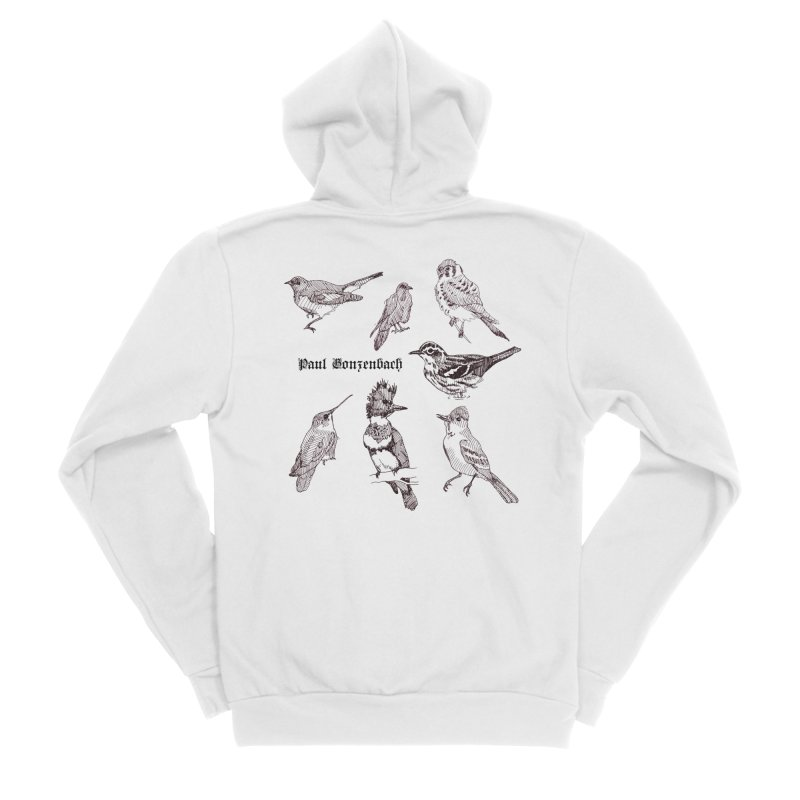 Bird Menagerie Women's Sponge Fleece Zip-Up Hoody by Unspeakable Records' Artist Shop