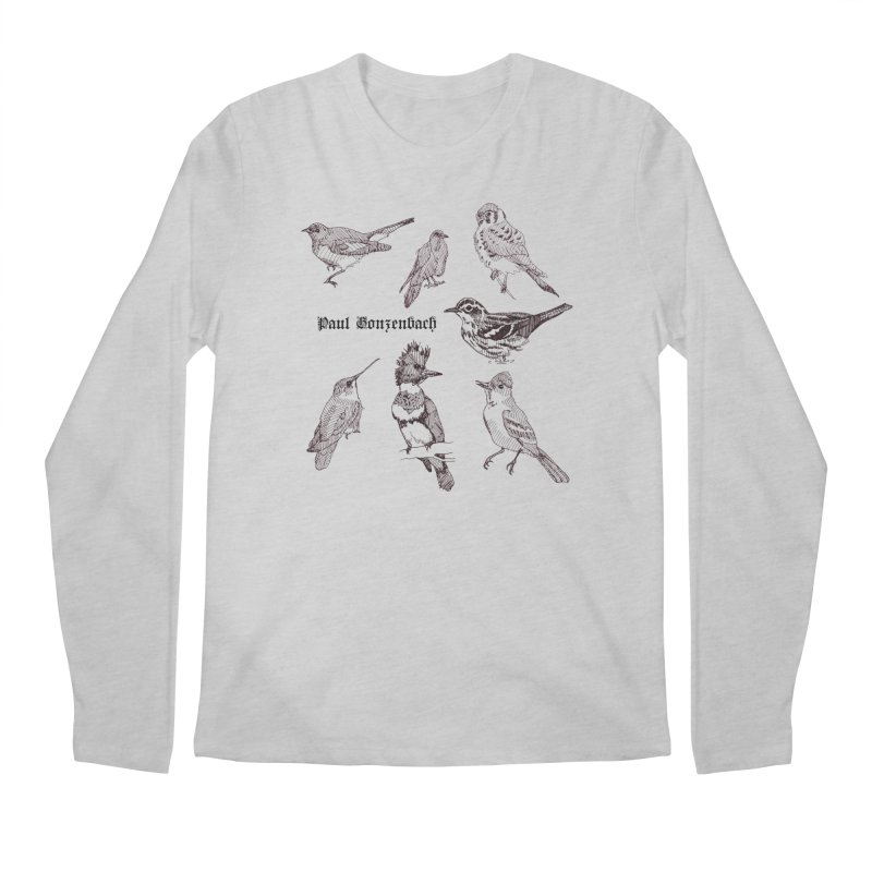 Bird Menagerie Men's Longsleeve T-Shirt by Unspeakable Records' Artist Shop