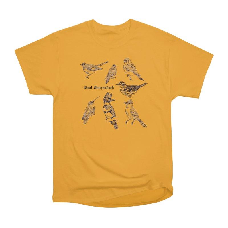 Bird Menagerie Women's Heavyweight Unisex T-Shirt by Unspeakable Records' Artist Shop