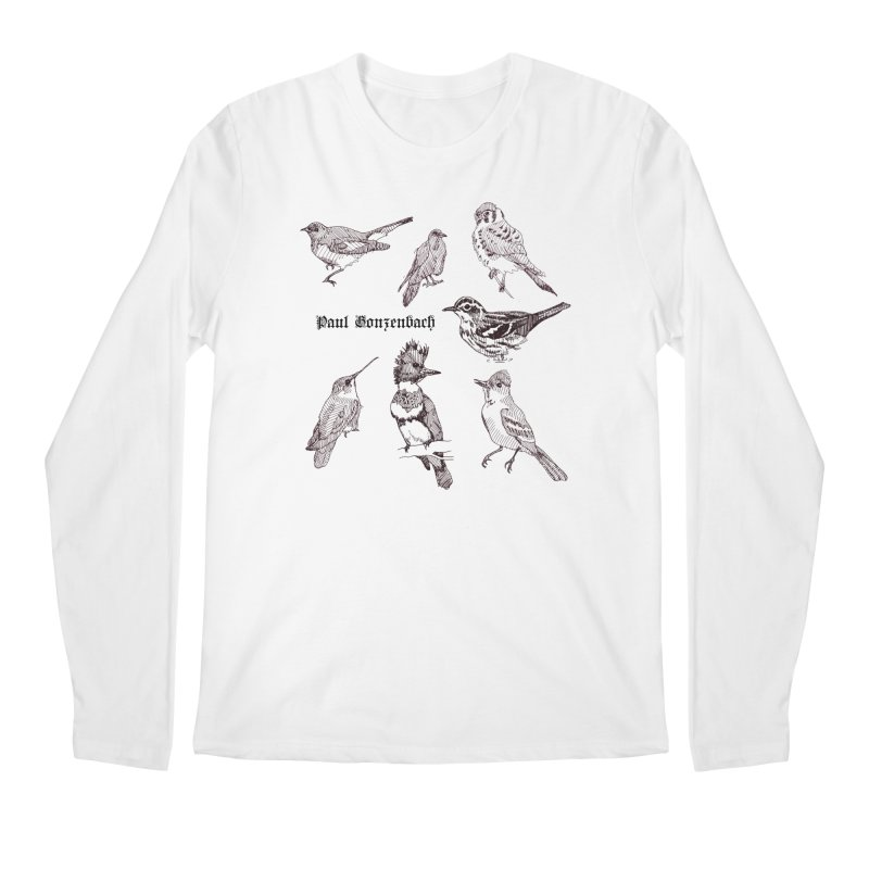 Bird Menagerie Men's Regular Longsleeve T-Shirt by Unspeakable Records' Artist Shop