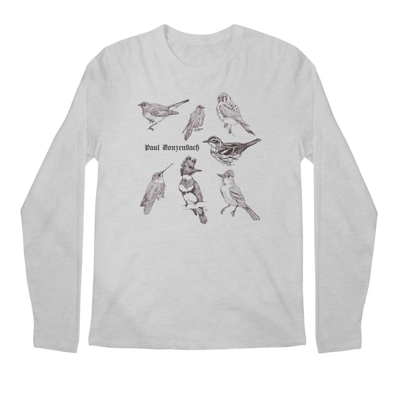 Bird Menagerie Men's Regular Longsleeve T-Shirt by Unspeakable Records' Artist Shop