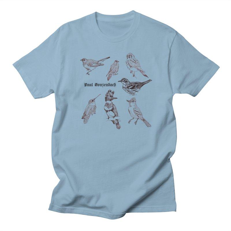 Bird Menagerie Men's Regular T-Shirt by Unspeakable Records' Artist Shop