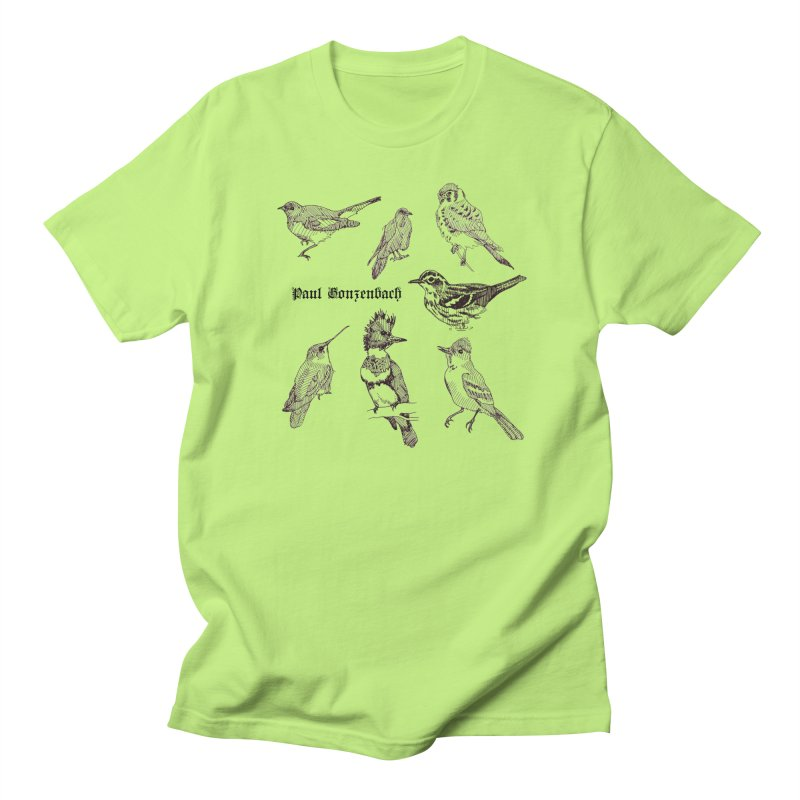Bird Menagerie Women's Regular Unisex T-Shirt by Unspeakable Records' Artist Shop