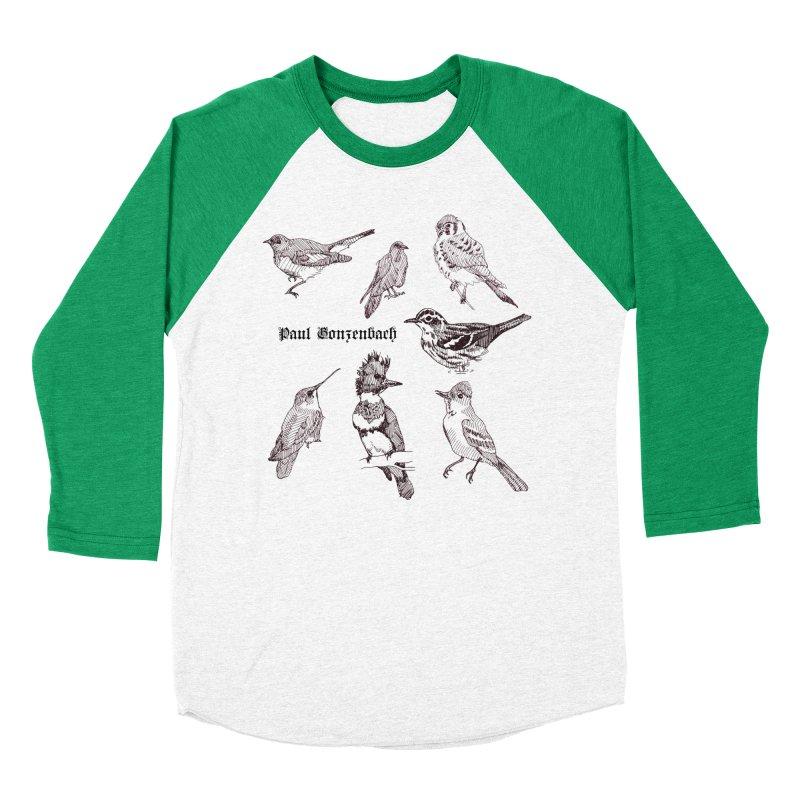 Bird Menagerie Men's Baseball Triblend Longsleeve T-Shirt by Unspeakable Records' Artist Shop