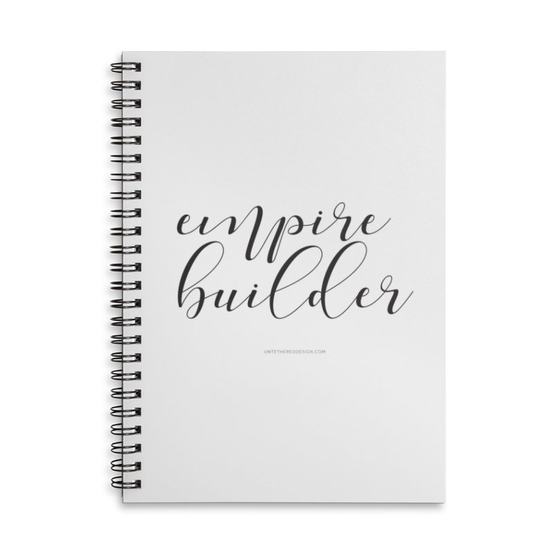 """Empire Builder"" Accessories Lined Spiral Notebook by Untethered Design 