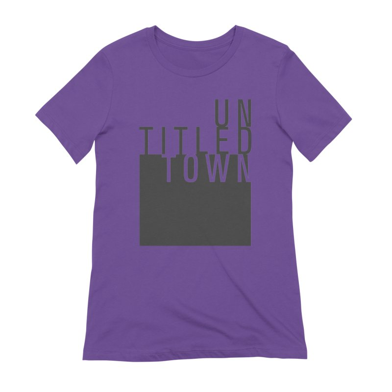 Un/Titled/Town Black +Transparent letters Women's Extra Soft T-Shirt by UntitledTown Store