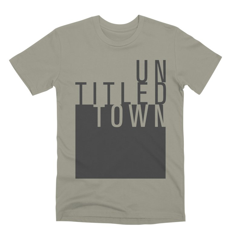 Un/Titled/Town Black +Transparent letters Men's Premium T-Shirt by UntitledTown Store