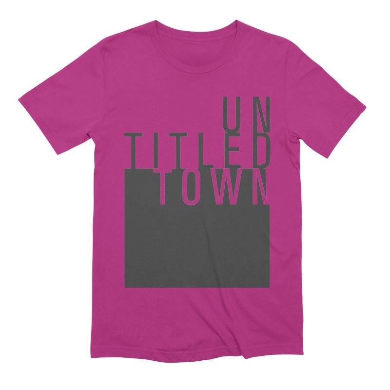 Un/Titled/Town Black +Transparent letters Men's Extra Soft T-Shirt by UntitledTown Store
