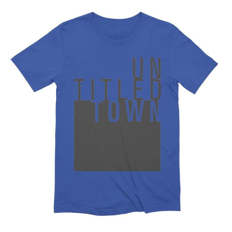 Un/Titled/Town Black +Transparent letters Men's Extra Soft T-Shirt by UntitledTown Store