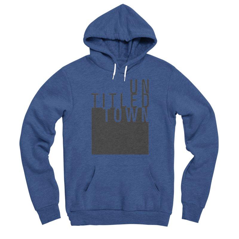 Un/Titled/Town Black +Transparent letters Women's Sponge Fleece Pullover Hoody by UntitledTown Store