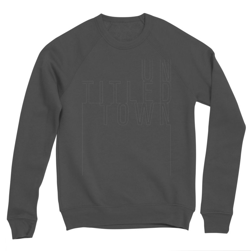 Un/Titled/Town Black +Transparent letters Men's Sponge Fleece Sweatshirt by UntitledTown Store