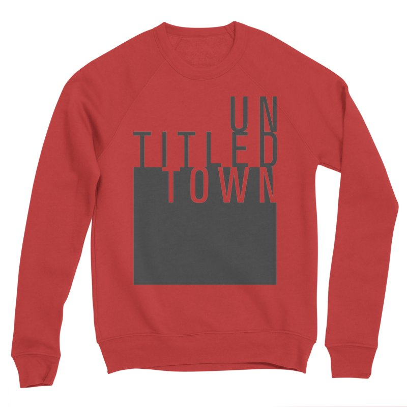 Un/Titled/Town Black +Transparent letters Women's Sponge Fleece Sweatshirt by UntitledTown Store