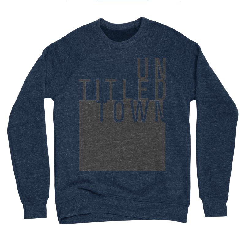 Un/Titled/Town Black +Transparent letters Men's Sponge Fleece Sweatshirt by UntitledTown Store