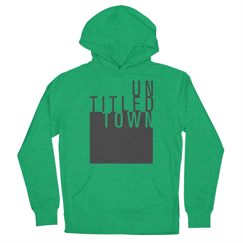 Un/Titled/Town Black +Transparent letters Men's Pullover Hoody by UntitledTown Store