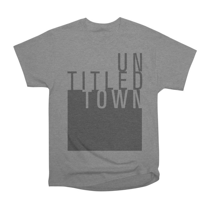 Un/Titled/Town Black +Transparent letters Women's Heavyweight Unisex T-Shirt by UntitledTown Store