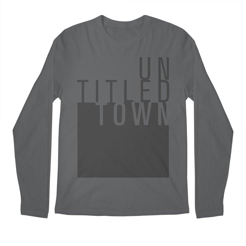 Un/Titled/Town Black +Transparent letters Men's Longsleeve T-Shirt by UntitledTown Store