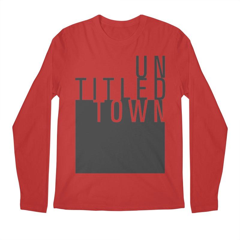Un/Titled/Town Black +Transparent letters Men's Regular Longsleeve T-Shirt by UntitledTown Store