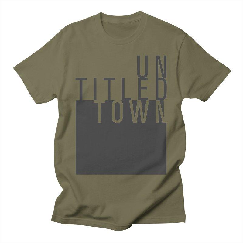 Un/Titled/Town Black +Transparent letters Men's T-Shirt by UntitledTown Store