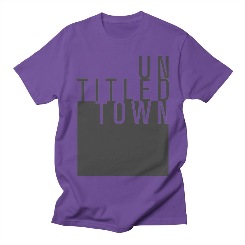 Un/Titled/Town Black +Transparent letters Women's Regular Unisex T-Shirt by UntitledTown Store