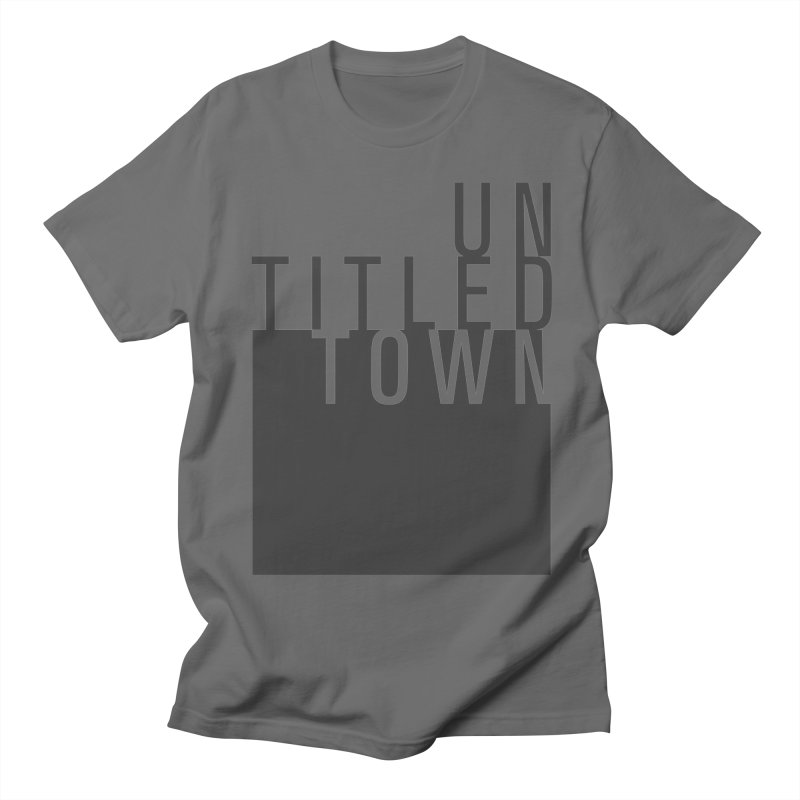 Un/Titled/Town Black +Transparent letters Men's T-Shirt by UntitledTown Store