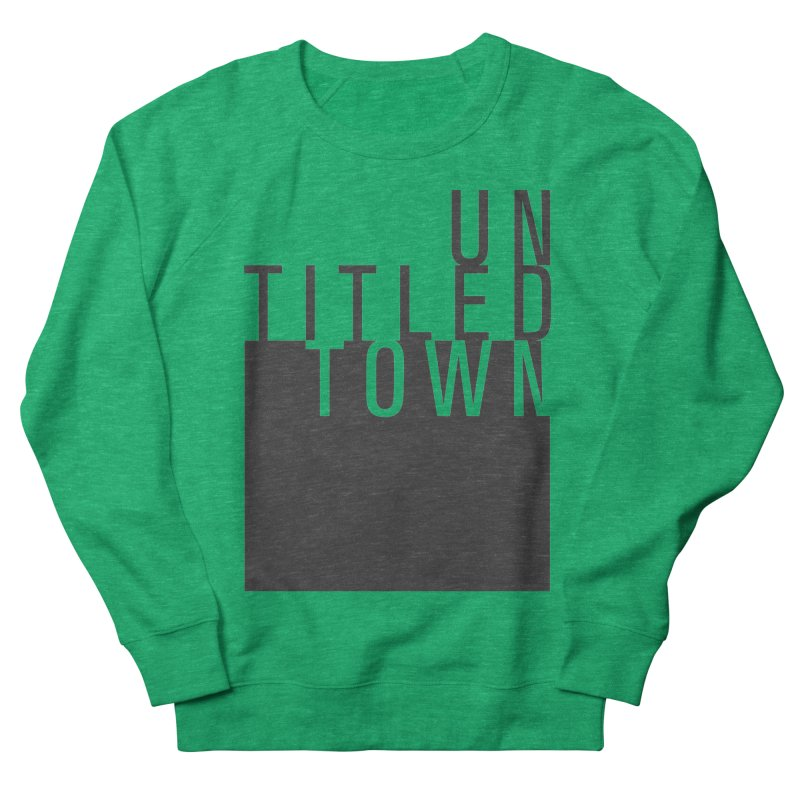 Un/Titled/Town Black +Transparent letters Women's Sweatshirt by UntitledTown Store