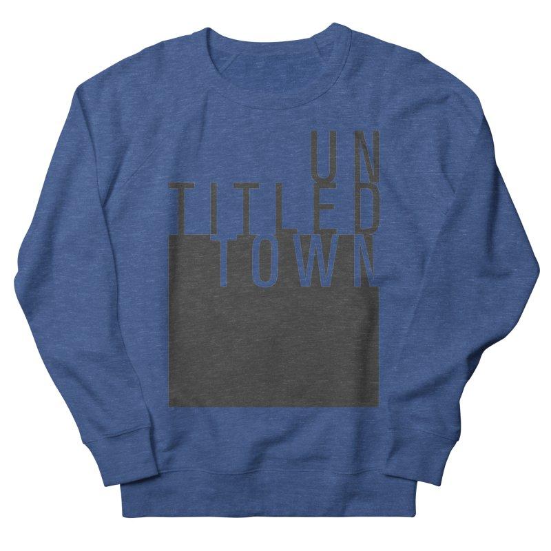 Un/Titled/Town Black +Transparent letters Men's Sweatshirt by UntitledTown Store
