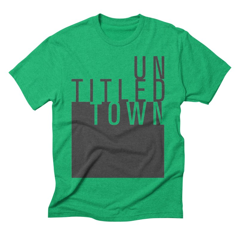 Un/Titled/Town Black +Transparent letters Men's Triblend T-Shirt by UntitledTown Store