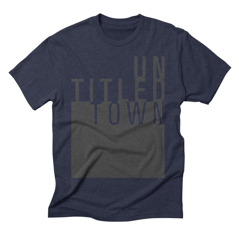 Un/Titled/Town Black +Transparent letters Men's Triblend T-Shirt by UntitledTown Store