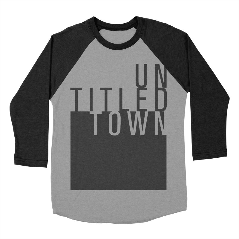 Un/Titled/Town Black +Transparent letters Women's Baseball Triblend Longsleeve T-Shirt by UntitledTown Store
