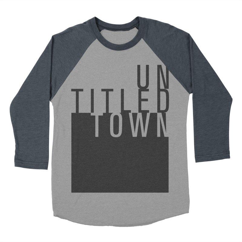 Un/Titled/Town Black +Transparent letters Men's Baseball Triblend Longsleeve T-Shirt by UntitledTown Store