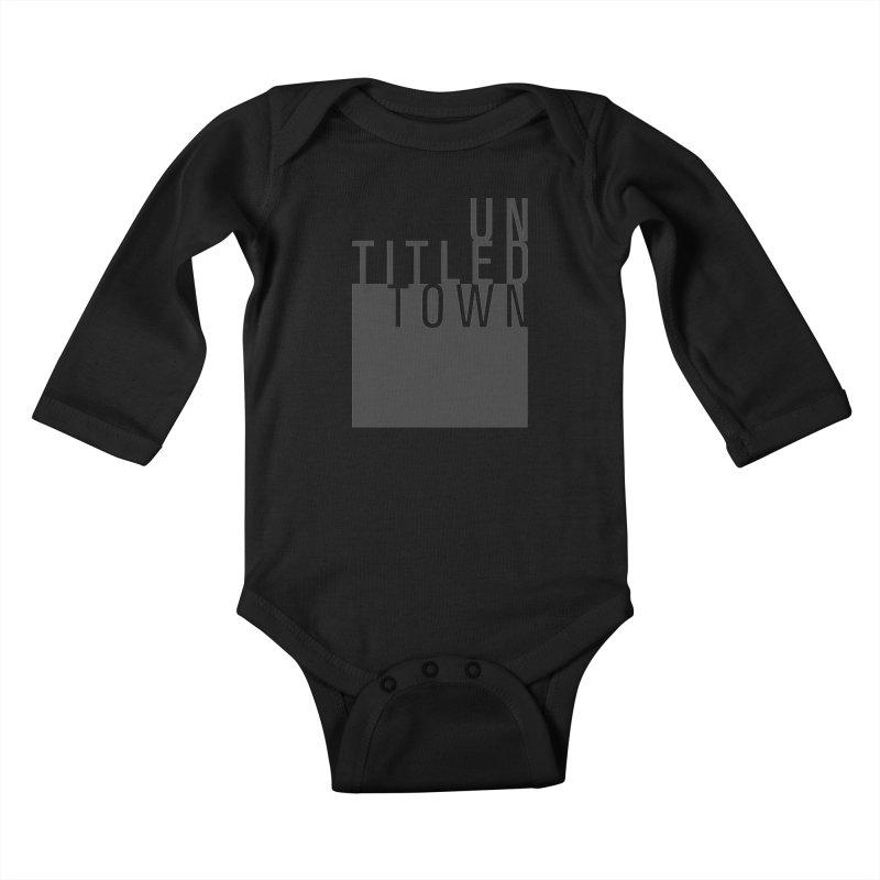 Un/Titled/Town Black +Transparent letters Kids Baby Longsleeve Bodysuit by UntitledTown Store