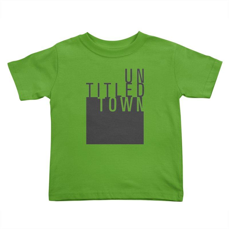 Un/Titled/Town Black +Transparent letters Kids Toddler T-Shirt by UntitledTown Store