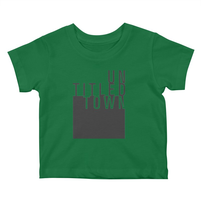 Un/Titled/Town Black +Transparent letters Kids Baby T-Shirt by UntitledTown Store