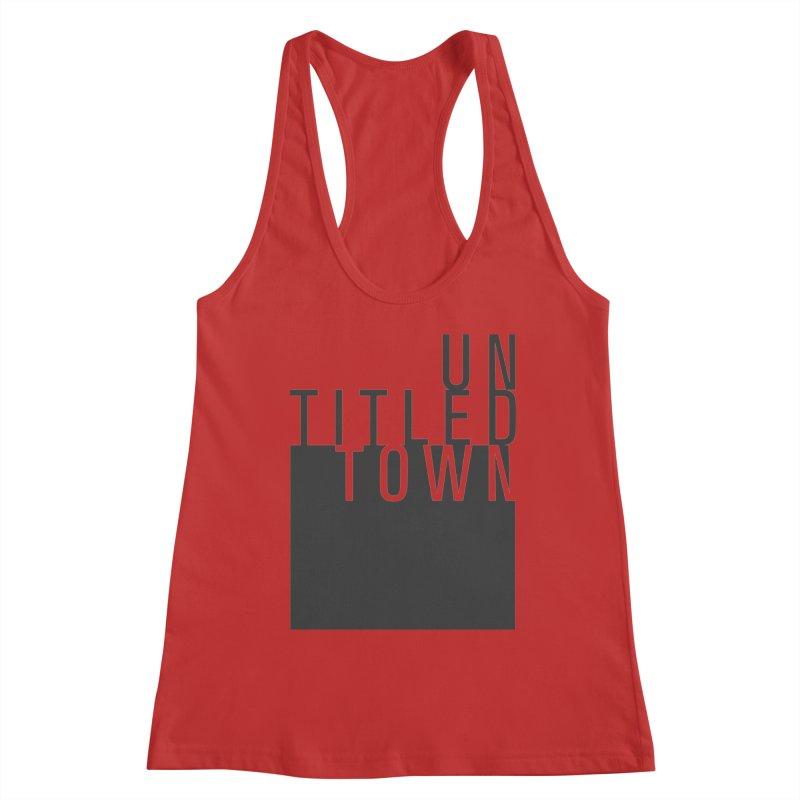 Un/Titled/Town Black +Transparent letters Women's Racerback Tank by UntitledTown Store