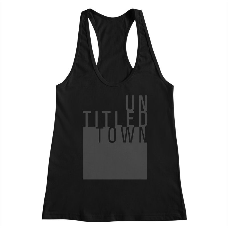 Un/Titled/Town Black +Transparent letters Women's Tank by UntitledTown Store