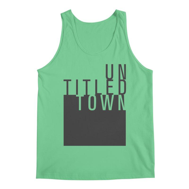 Un/Titled/Town Black +Transparent letters Men's Regular Tank by UntitledTown Store