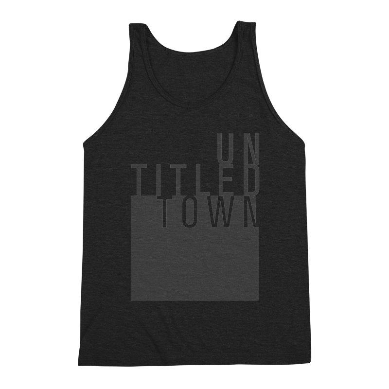 Un/Titled/Town Black +Transparent letters Men's Triblend Tank by UntitledTown Store