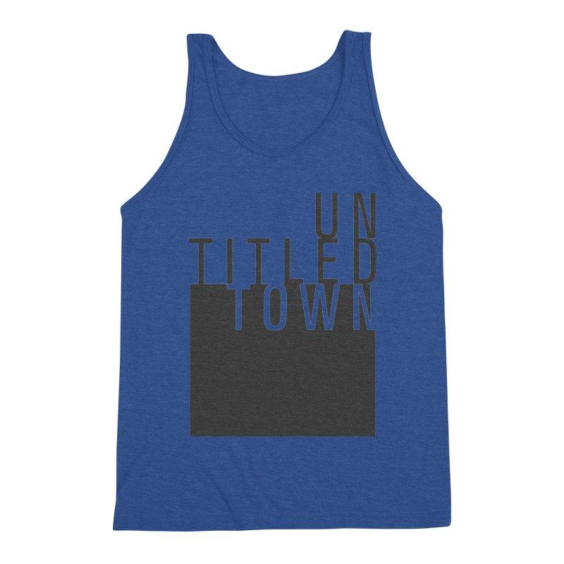 Un/Titled/Town Black +Transparent letters Men's Tank by UntitledTown Store