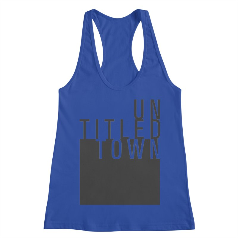 Un/Titled/Town Black +Transparent letters Women's Racerback Tank by UntitledTown Store